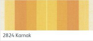 ผ้าอะคริลิค สีลายเหลืองส้ม สลับขาว