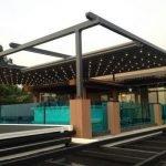หลังคาเลื่อนผ้าใบ เปิด-ปิดได้ รุ่น Moving Roof สำหรับงาน Rooftop